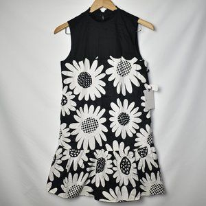 Victoria Beckham Dress Mini Floral Sleeveless XS